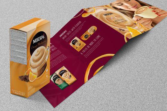 Obalové a propagační materiály Nescafé