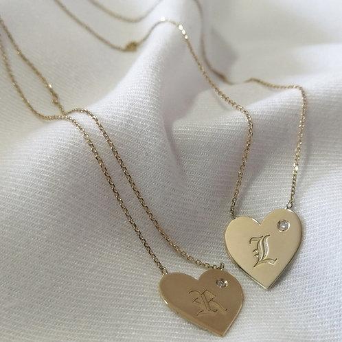 Escapulário Coração em Ouro 18k