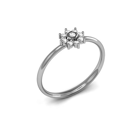anel solitário de diamante