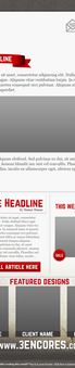 Newsletter Email Wireframe