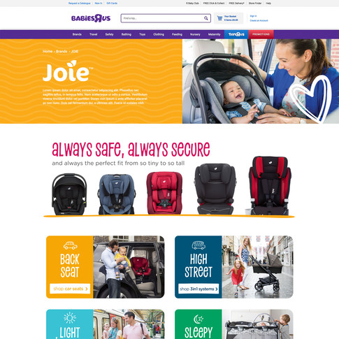 Babies R Us Brand Page