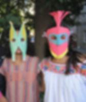 Des masques en papier. Paper masks
