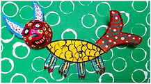 Animaux fantastique mexicaines, Mexican Fantasy Animals - Une animaux fantastique en papier, A paper fantasy animal