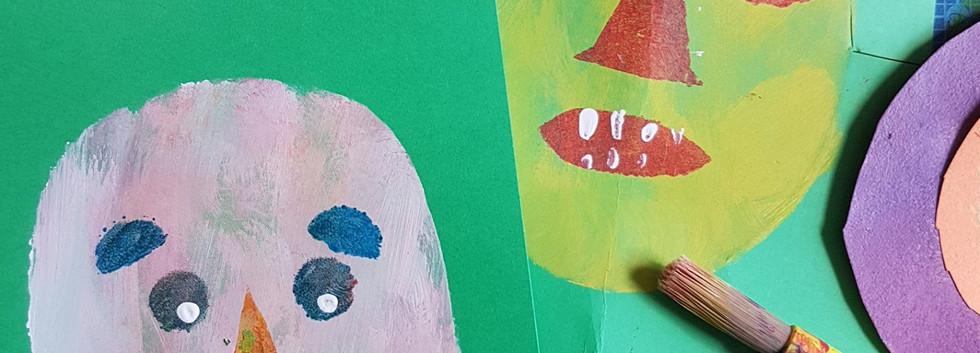 De l'art fait par des participants. Art made by participants.