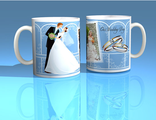 Pair of Personalised Wedding Mugs 003