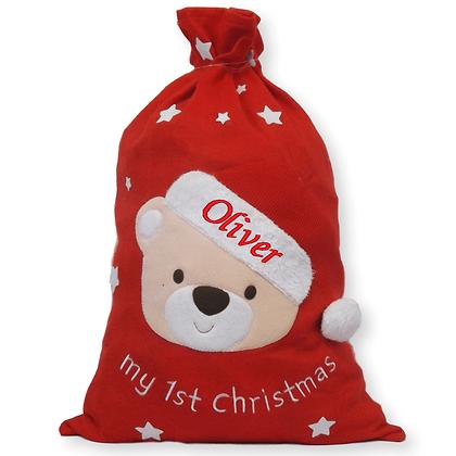 Personalised My first Christmas jumbo sack