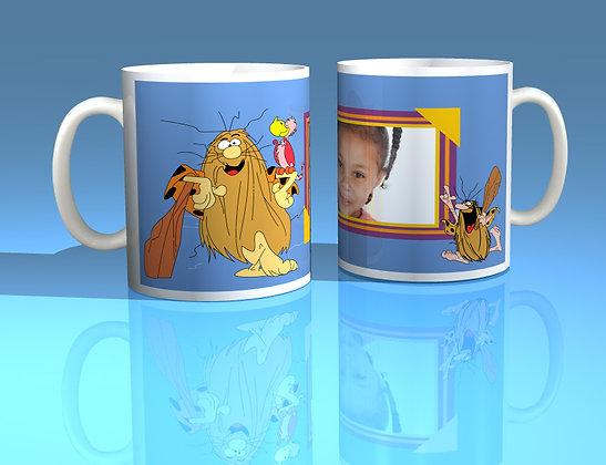 Captain Caveman Personalised Photo Mug