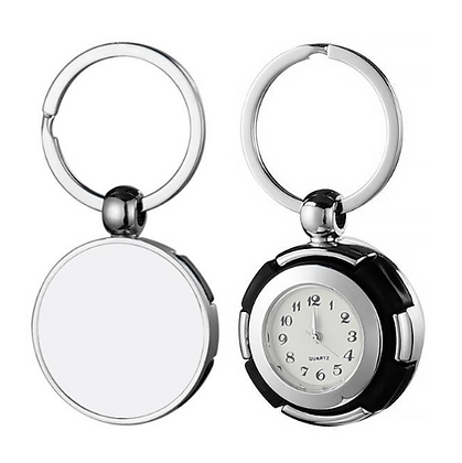 Clock Metal Keyring