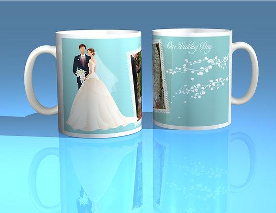 Pair of Personalised Wedding Mugs 002