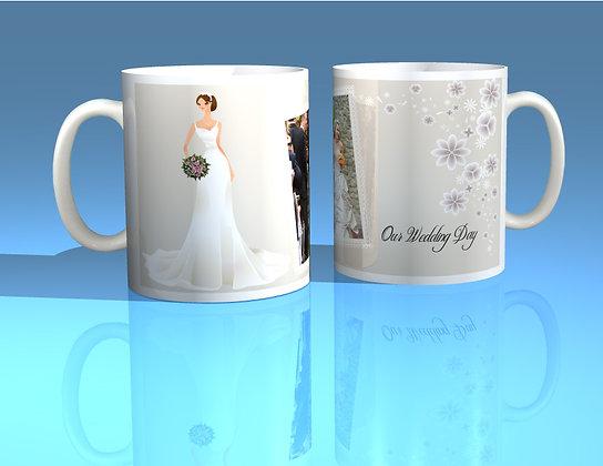 Pair of Personalised Wedding Mugs 010