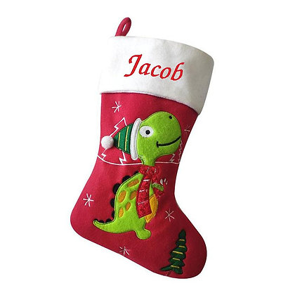 Personalised Luxury Dinosaur Christmas Stocking