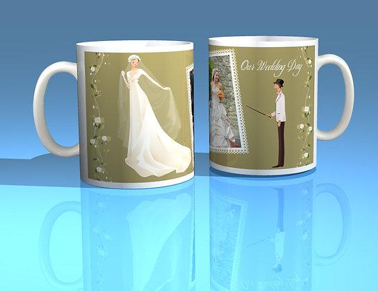 Pair of Personalised Wedding Mugs 001