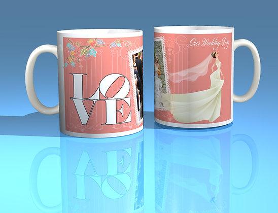 Pair of Personalised Wedding Mugs 006