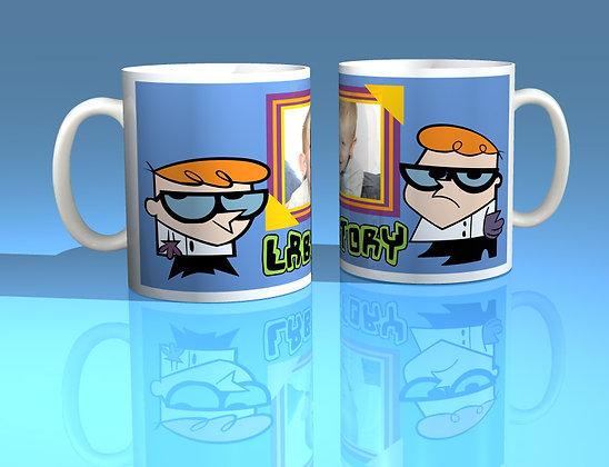 Dexters Laboratory Personalised Photo Mug