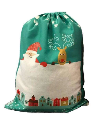 Personalised Green Santa sack
