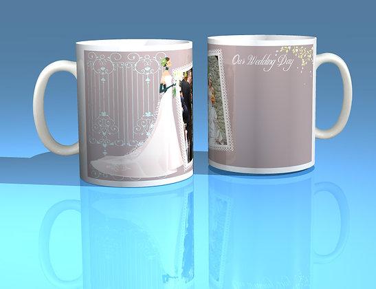 Pair of Personalised Wedding Mugs 005