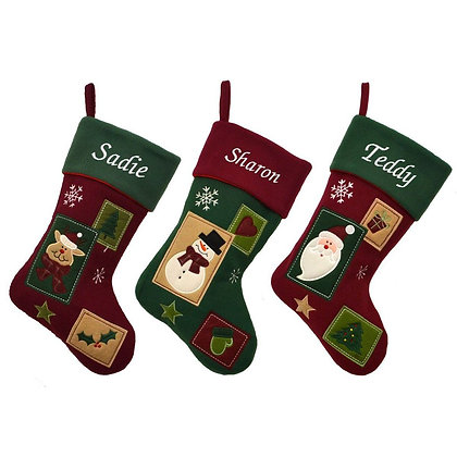 Personalised Vintage Patchwork Style Stocking