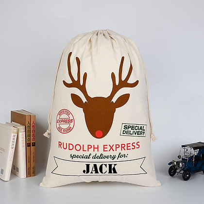 Personalised Rudolph Express sack