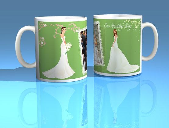 Pair of Personalised Wedding Mugs 004