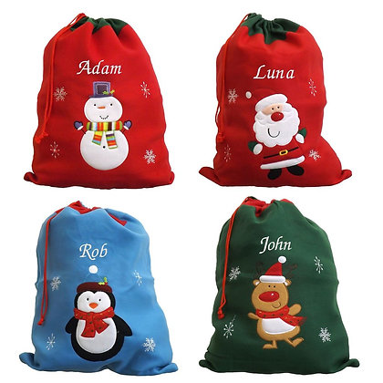 Personalised Luxury Deluxe Santa sack