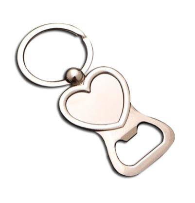 Heart Bottle Opener Metal Keyring