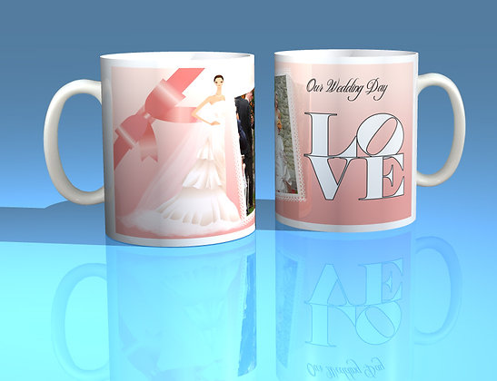 Pair of Personalised Wedding Mugs 007