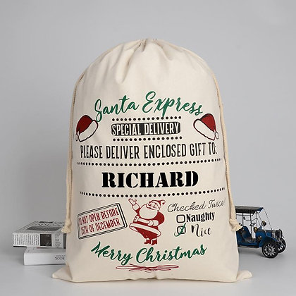 Personalised Santa Express Special Delivery sack