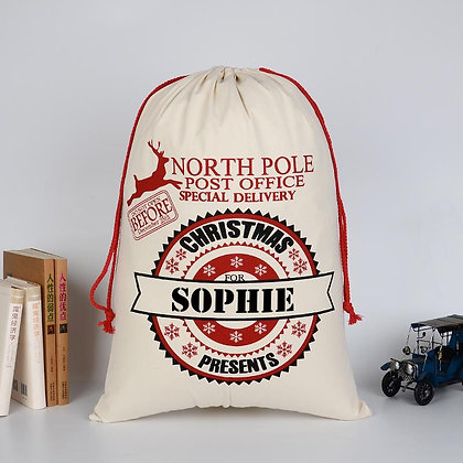 Personalised North Pole Post Office sack