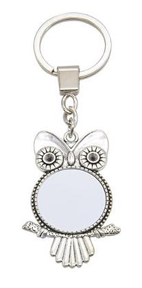 Owl Metal Keyring