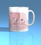 Pink Cute Bear Mug 002
