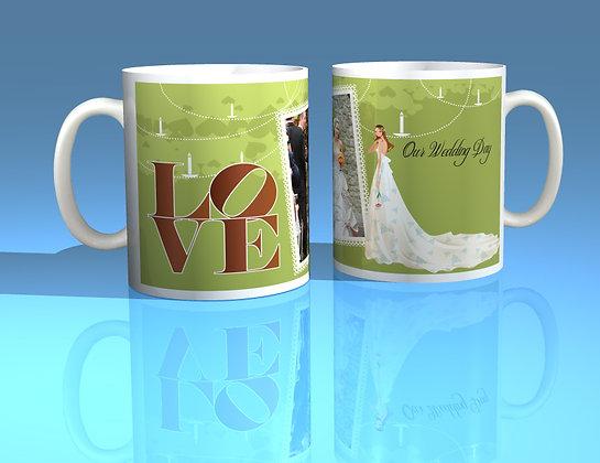 Pair of Personalised Wedding Mugs 008