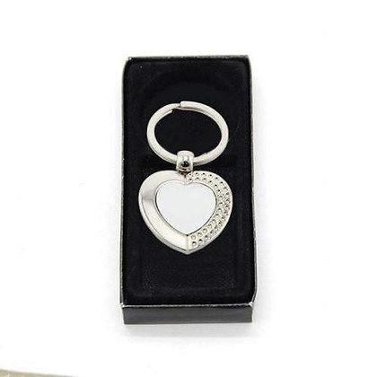 Love Heart Metal Keyring