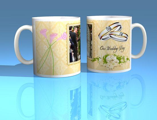 Pair of Personalised Wedding Mugs 009