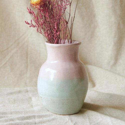 Vase dégradé rose et turquoise