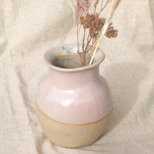 Vase rose moyen