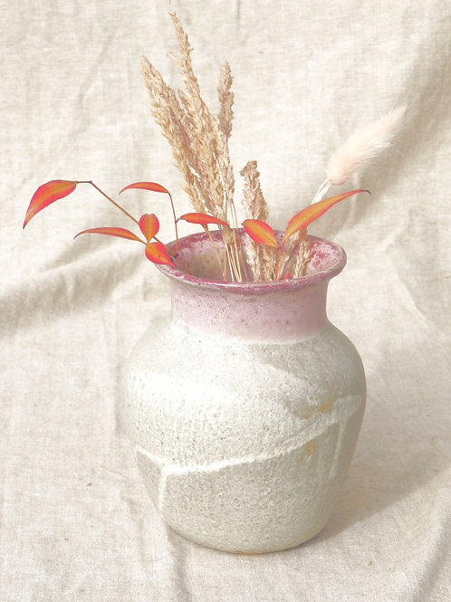 Vase Blanc et rose