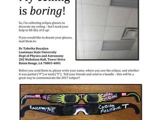 Eclipse glasses art installation