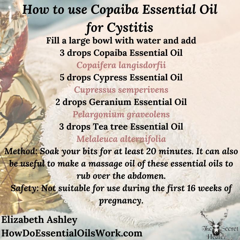 Essential Oil Recipe Copaiba Sitz Bath For Cystitis