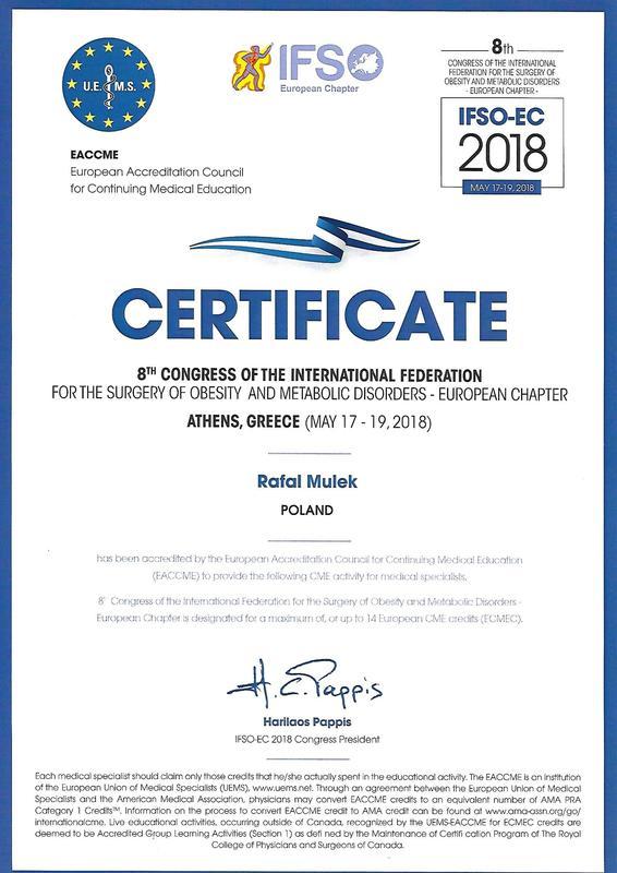 Certyfikat IFSO EC Ateny 2018