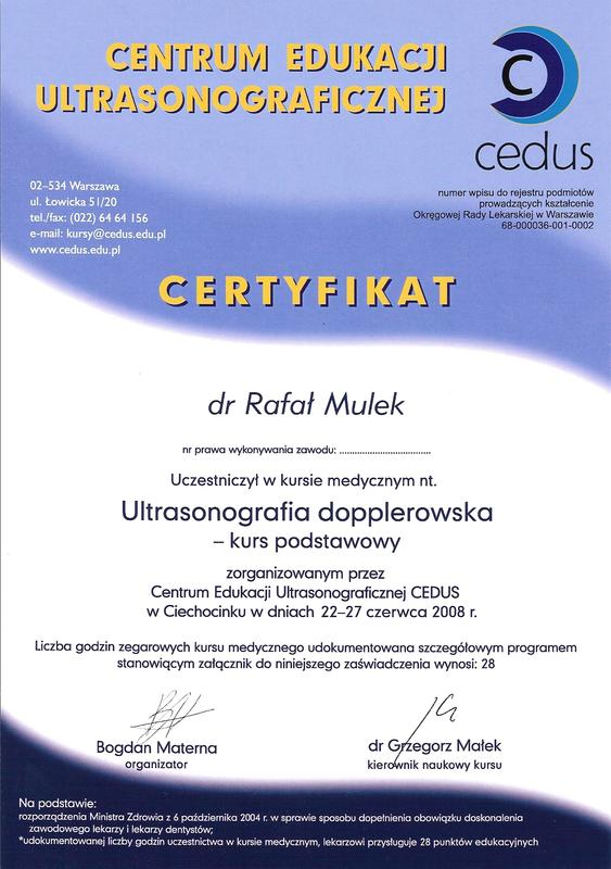 Kurs Ultrasonografia dopplerowska - kurs