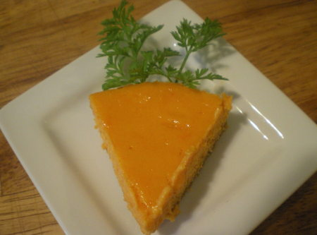 Crazy Carrot Dreamsicle Cheesecake