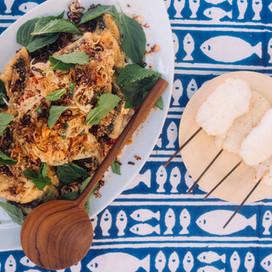 Thai Fried Sea Bass with Papaya salad, h