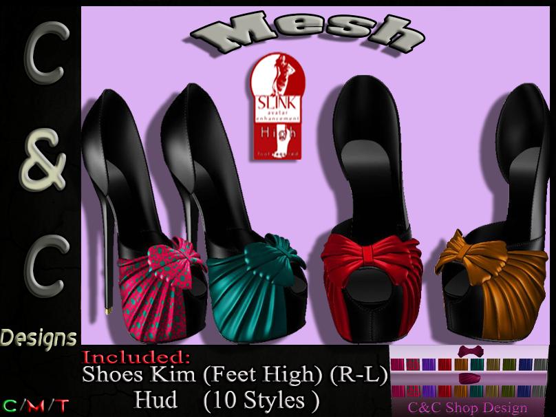 C&C Mesh Shoes Kim (Feet High) Hud 10 Styles.png