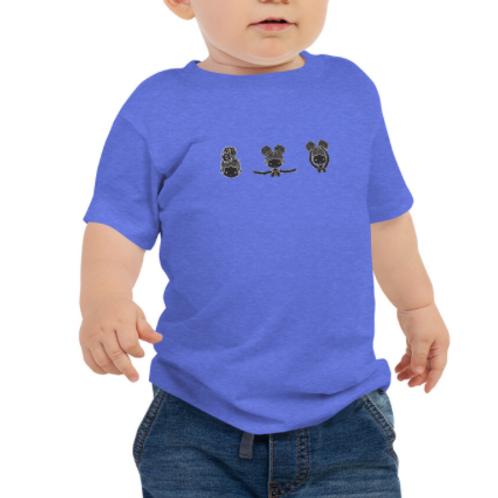 Camiseta de manga corta de punto liso para bebé
