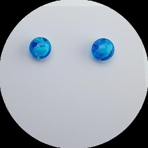 Botones Murano Azul Cielo