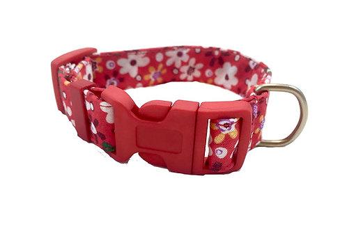 "Collar para Perro ""Flor Roja"""