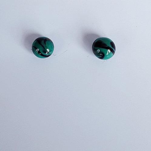 Botones de Murano Verde Malaquita
