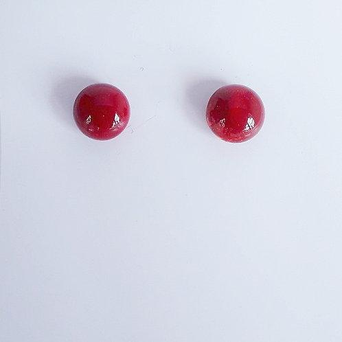 Botones de Murano Rojizo