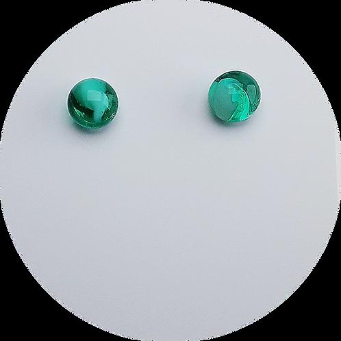 Botones de Murano Verde Turquesa
