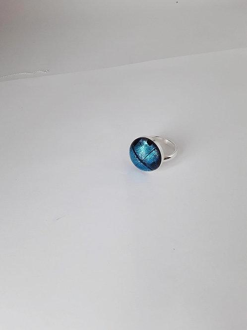 Anillo Domun destellos Azul